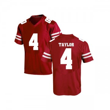 Men's A.J. Taylor Wisconsin Badgers Under Armour Replica Red College Jersey