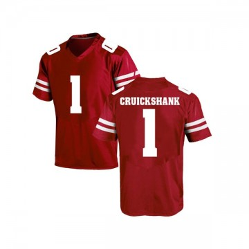 Men's Aron Cruickshank Wisconsin Badgers Under Armour Game Red College Jersey