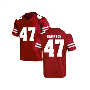 Men's Cormac Sampson Wisconsin Badgers Under Armour Replica Red College Jersey