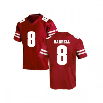 Men's Deron Harrell Wisconsin Badgers Under Armour Game Red College Jersey