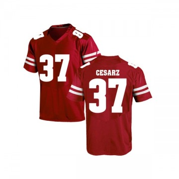 Men's Ethan Cesarz Wisconsin Badgers Under Armour Game Red College Jersey