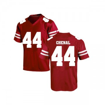 Men's John Chenal Wisconsin Badgers Under Armour Game Red College Jersey