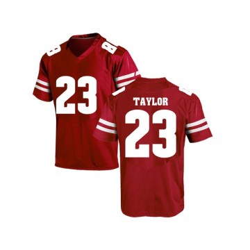 Men's Jonathan Taylor Wisconsin Badgers Under Armour Game Red College Jersey