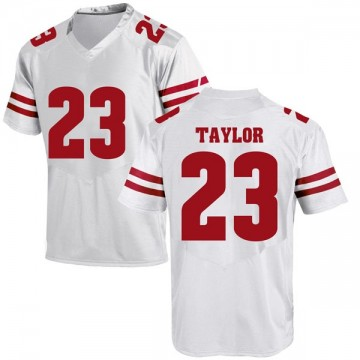 Men's Jonathan Taylor Wisconsin Badgers Replica White College Jersey