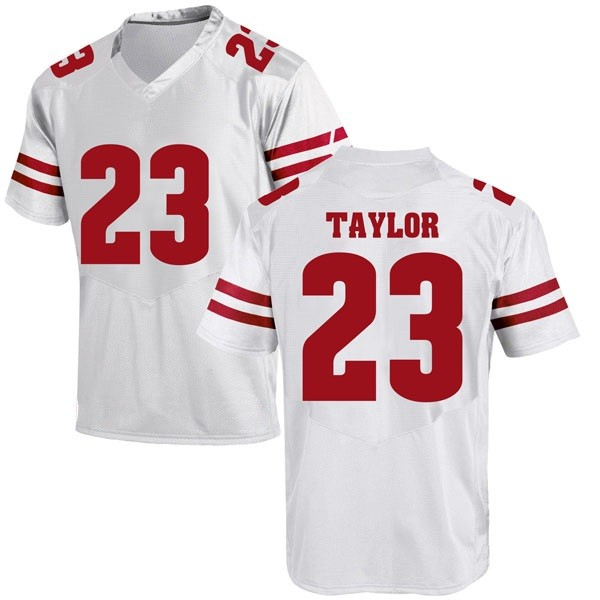 Men's Jonathan Taylor Wisconsin Badgers Under Armour Replica White College Jersey