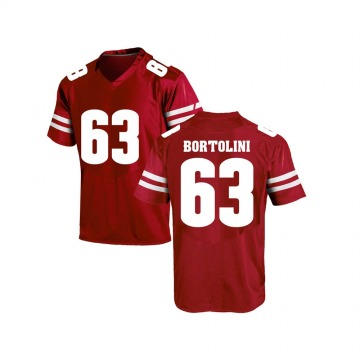Men's Tanor Bortolini Wisconsin Badgers Game Red College Jersey