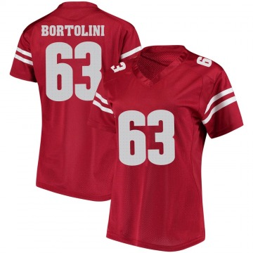 Women's Tanor Bortolini Wisconsin Badgers Under Armour Game Red College Jersey
