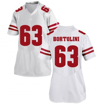Women's Tanor Bortolini Wisconsin Badgers Under Armour Game White College Jersey