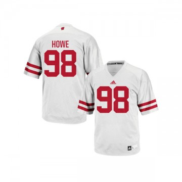 Youth Kraig Howe Wisconsin Badgers Limited White adidas Football Jersey -